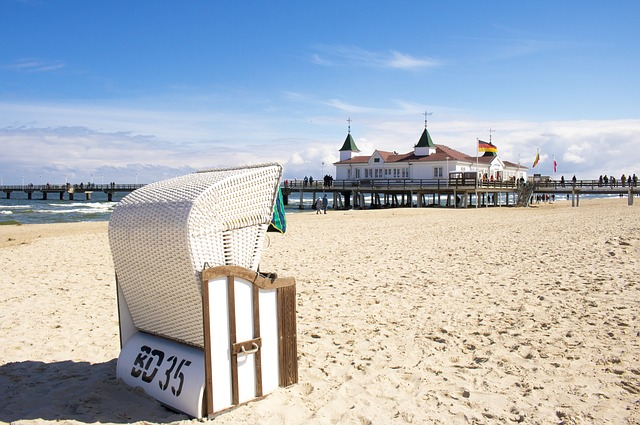 Strandkorb bei Ahlbeck auf Usedom